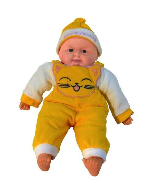 Large Gorgeous Soft-Belly My First Baby Doll - Yellow