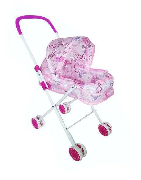 Baby Doll Folding Stroller Pushchair Kids Pram - Purple and Pink