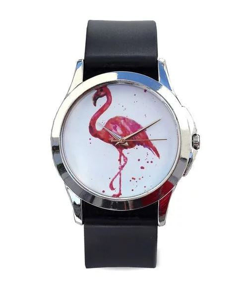 Just for Me Black Strap Analog Picture Watch - Birds of Paradise