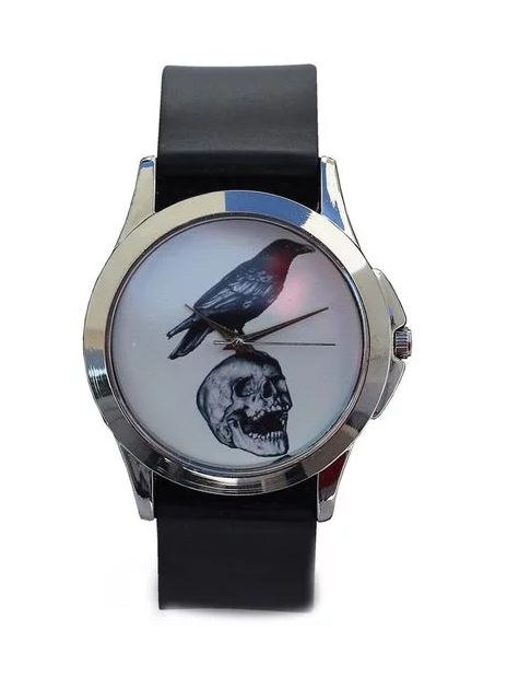 Just for Me Black Strap Analog Picture Watch - Meaning of Life