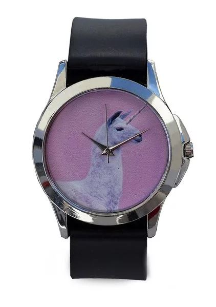 Just for Me Black Strap Analog Picture Watch - Alpaca Love