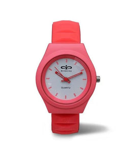 Silicone Jelly Gel Quartz Analog Outdoor Wrist Watch - Pink