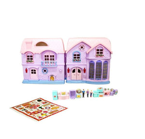 Happy Family Dolls House with Dolls Furniture and Accessories