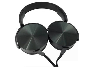 Black Extra Bass Hands-free Stereo Headphones