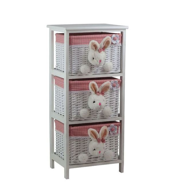 Bunny-Love Luxury Basket Drawers 3 Piece Set