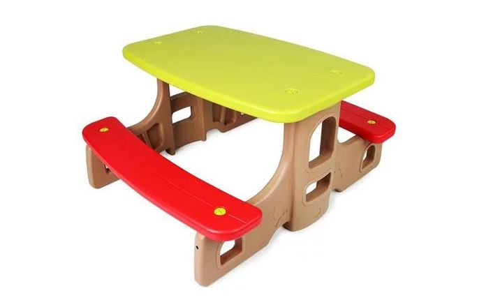 Colourful Kids Children Picnic Table & Bench Set