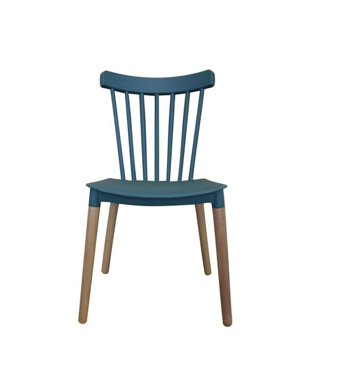 Contemporary Tiffany Style Teal and Wood Dining Chair