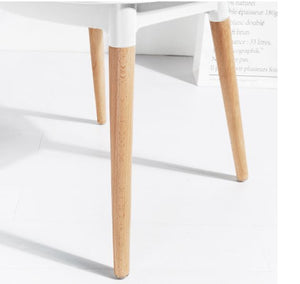 Contemporary Windsor White and Wood Style Dining Chair