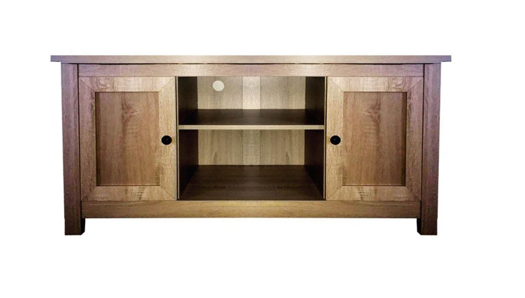 Country Chic Textured MDF Wood TV Stand - TV Unit