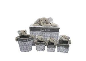 Elephant Luxury Laundry & Storage Basket 5 Piece Combo Set