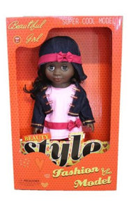 Just Like me Diversity Fashion African Doll - Denim Dreams