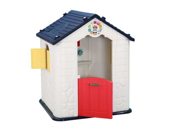 Kids Navy Playhouse with Swing Door and Windows