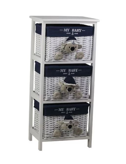 Koala-Love Luxury Basket Drawers 3 Piece Set