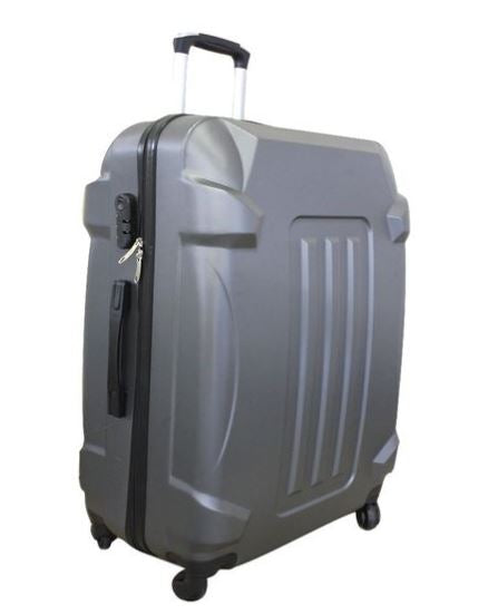 Large Hardshell Lightweight Luggage with 4 Silent 360 Wheels - Grey