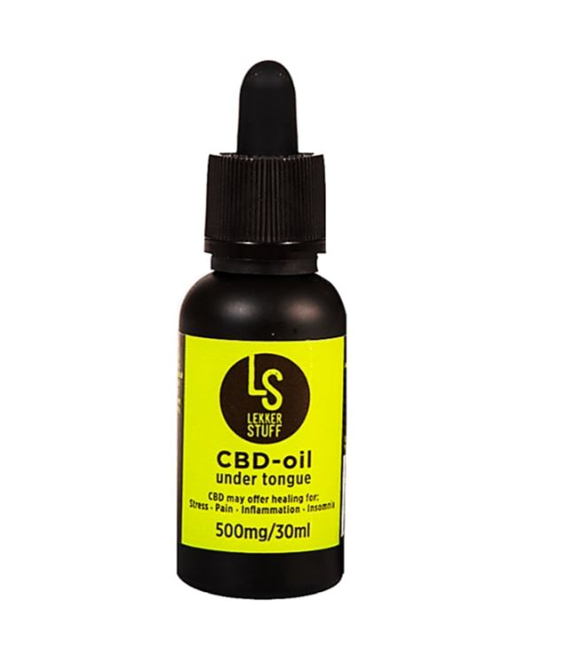 Lekker Stuff CBD Oil 500mg for Pain  Anxiety  Stress Relief & Better Sleep