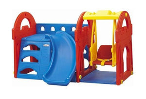 Little Castle Playhouse Jungle Gym Slide & Swing Set for Kids