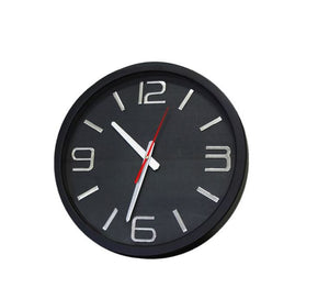 Modern Décor Black and Metallic Numerals Round Clock