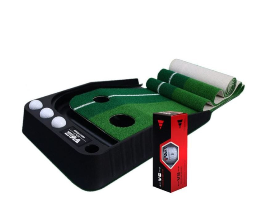 PGM Golfing Trainer Set � PGM Slope Auto Golf Putting Mat and 3 x PGM Golf Balls