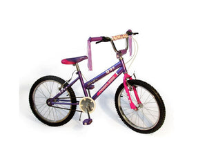 "Peerless Girls Flower Power 20"" BMX Bike - Purple"