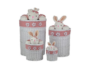 Round Bunny-Love Luxury Laundry & Storage Basket 4 Piece Set