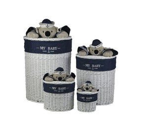 Round Koala-Love Luxury Laundry & Storage Basket 4 Piece Set