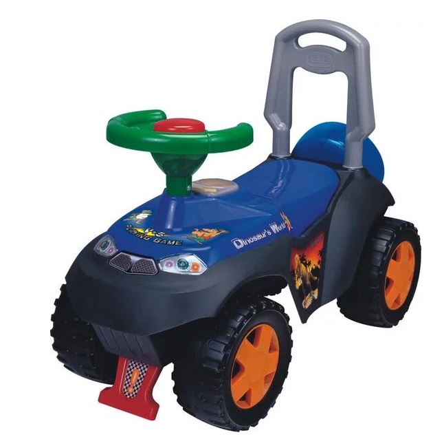 Kids Ride-On Dinosaur World Push Car - Blue