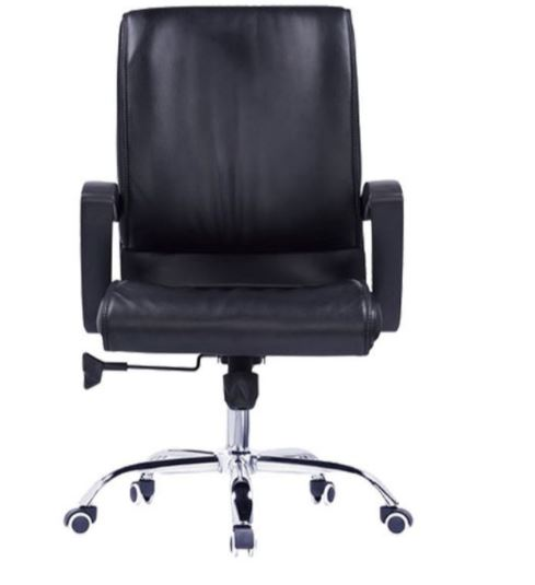 Solid PU Leather Comfort-Lux Executive Swivel Office Chair � Max 140kg