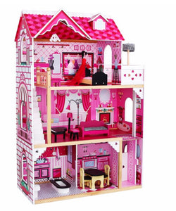 Ultimate Large Wooden Dollhouse - Fully Furnished Dolls House