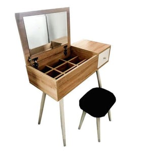 Vanity Table with Flip Top Mirror Bedroom Dressing Table Writing Desk