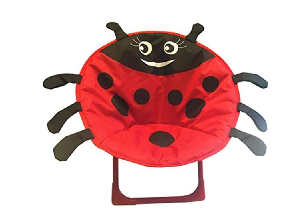Wish Cartoon Ladybird Seat Foldable Kids Camping Chair