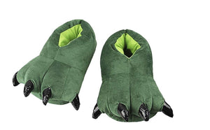 Wish Funny Animal Claw Green Monster Slippers - Large Size 6 to 8
