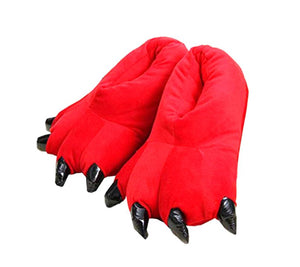 Wish Funny Animal Claw Red Monster Slippers - Large sizes 5 to 7
