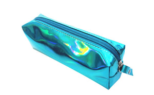 Wish Iridescent Blue Ocean Motion Reflective Fashion pencil case