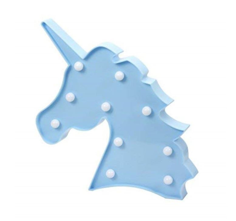Wish LED Blue Unicorn Night Light Lamp - Battery Operated