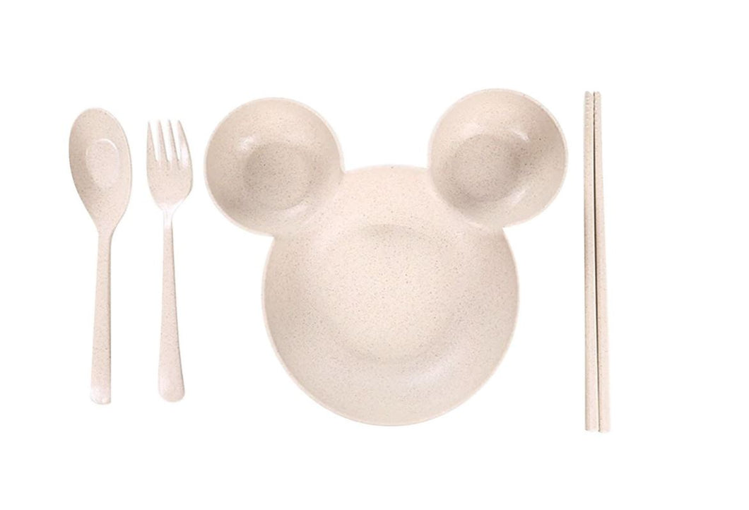 Wish Little Mouse Baby Feeding Kids Cutlery Set - Beige