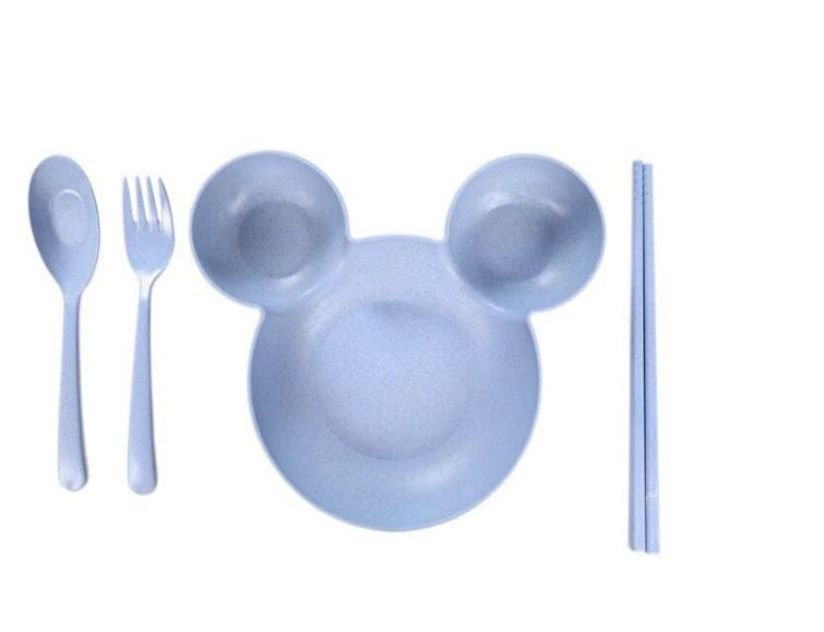 Wish Little Mouse Baby Feeding Kids Cutlery Set - Blue