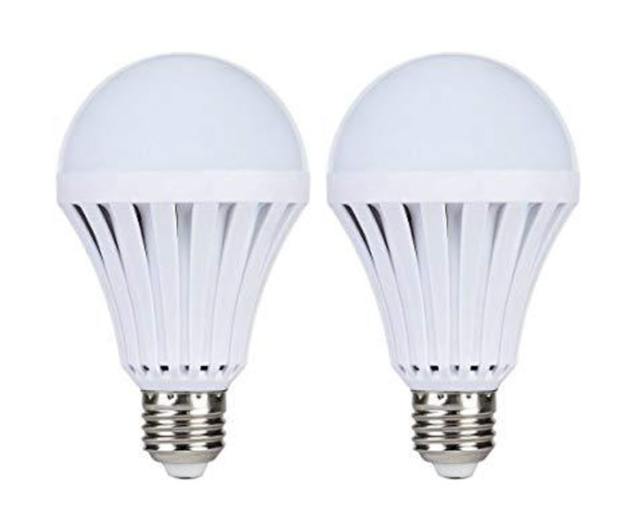 Wish Load Shedding 2 Pack 7W Emergency Rechargeable LED Light Bulb Bayonet