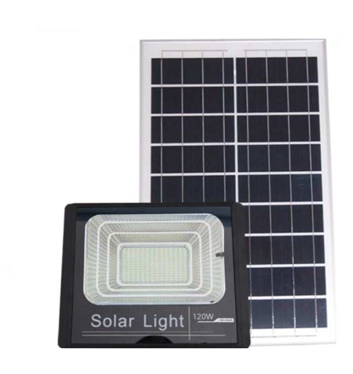 Wish Outdoor 120W High Power Solar Flood Light with Power Indicator