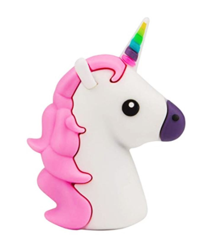 Wish Pink Unicorn Portable Fast Charge Portable Power Bank Charging