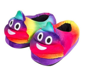 Wish Rainbow Poop Emoji Slippers - Large Size 6 to 8