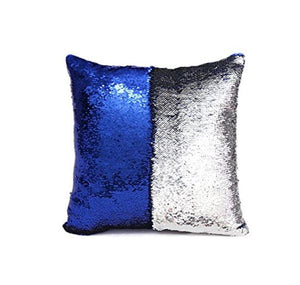 Wish Reversible Royal Blue Sequined Colour Changing Cushion Throw Pillow