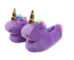 Wish Unicorn-Love Plush Animal Slippers - Medium Size 4 - 6