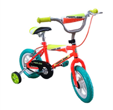 Load image into Gallery viewer, Peerless 12 BMX Bike with Training Wheels - Orange and Turquoise
