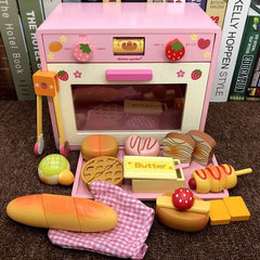 Pink oven for the little baker