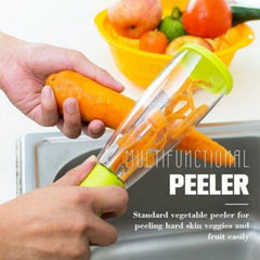 Mess-free handy kitchen peeler