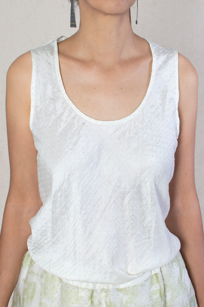 Bias Tank Top | Natural White