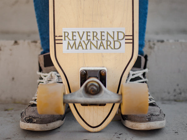 Reverend Maynard Sticker - Orphan Riot Designs