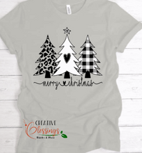 Load image into Gallery viewer, Merry Christmas Trees T-Shirt