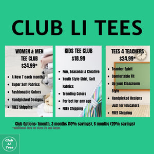CLUB LI TEES KIDS' Club  1 MONTH PLAN