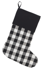 Load image into Gallery viewer, Buffalo Plaid Holiday Stockings-FREE SHIPPING THRU 12/1
